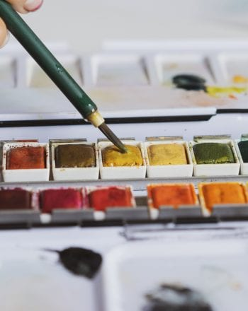 Painting using a multi-colored palette