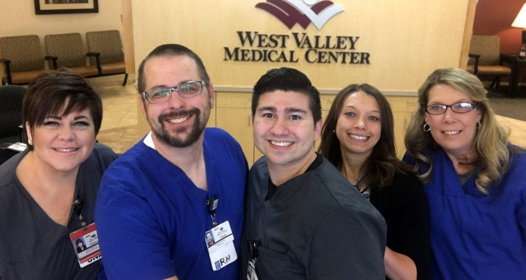 West Valley Medical Center volunteer nurses