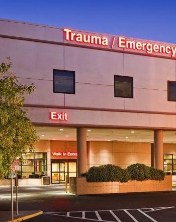 Sunrise Hospital Exterior Dusk Shot