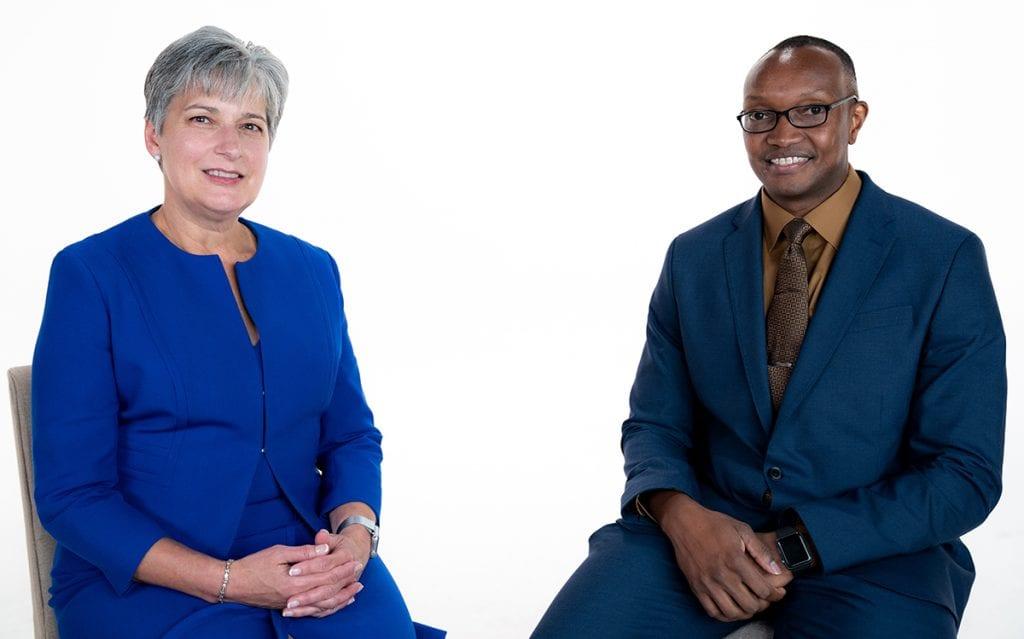 Jane Englebright and Abel Kissaru