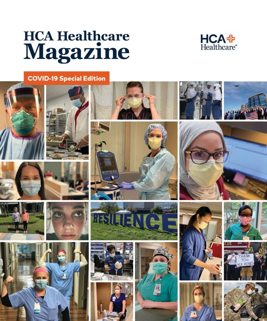 HCA Healthcare Magazine Summer 2020 issue cover