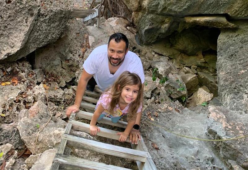Carlos Delgado and daughter Arabella